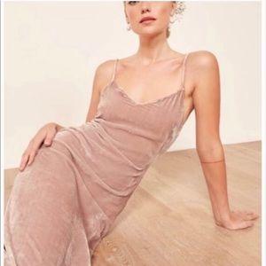 NWT REFORMATION velvet midi dress
